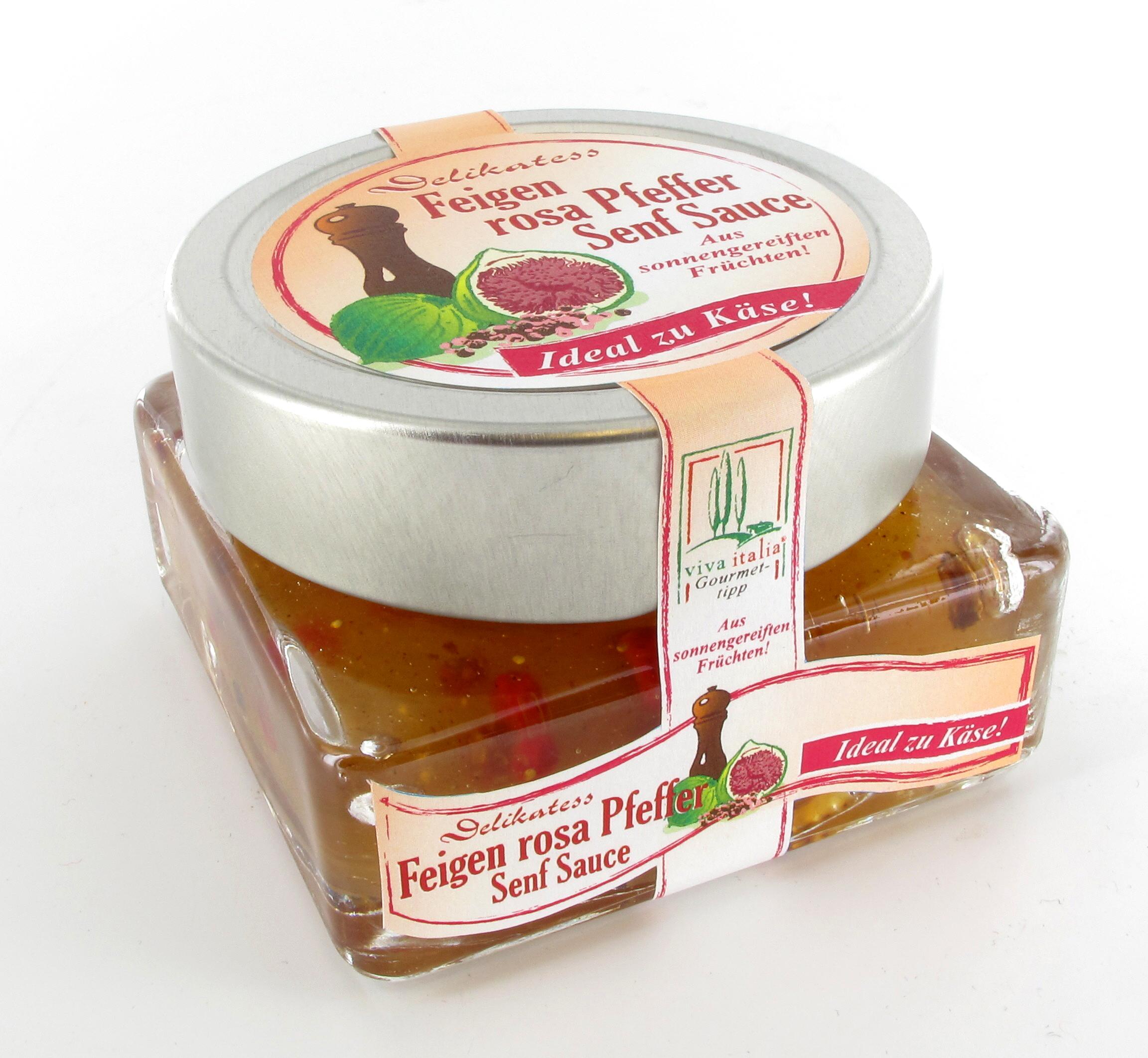Viva Italia Fruchtsenfsauce  Feige Rosa Pfeffer 140g
