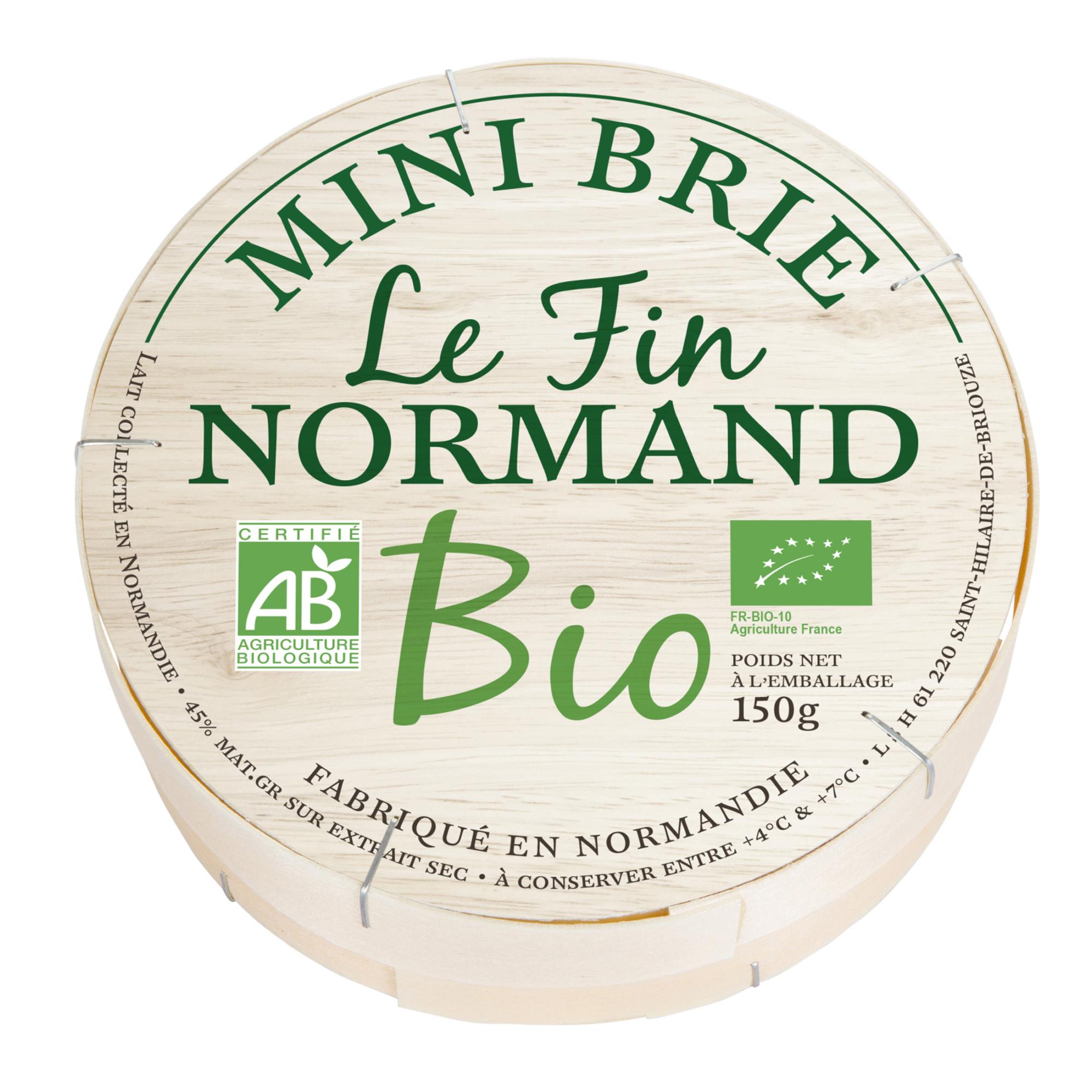 Bio Mini Brie Le Fin Normand 150g