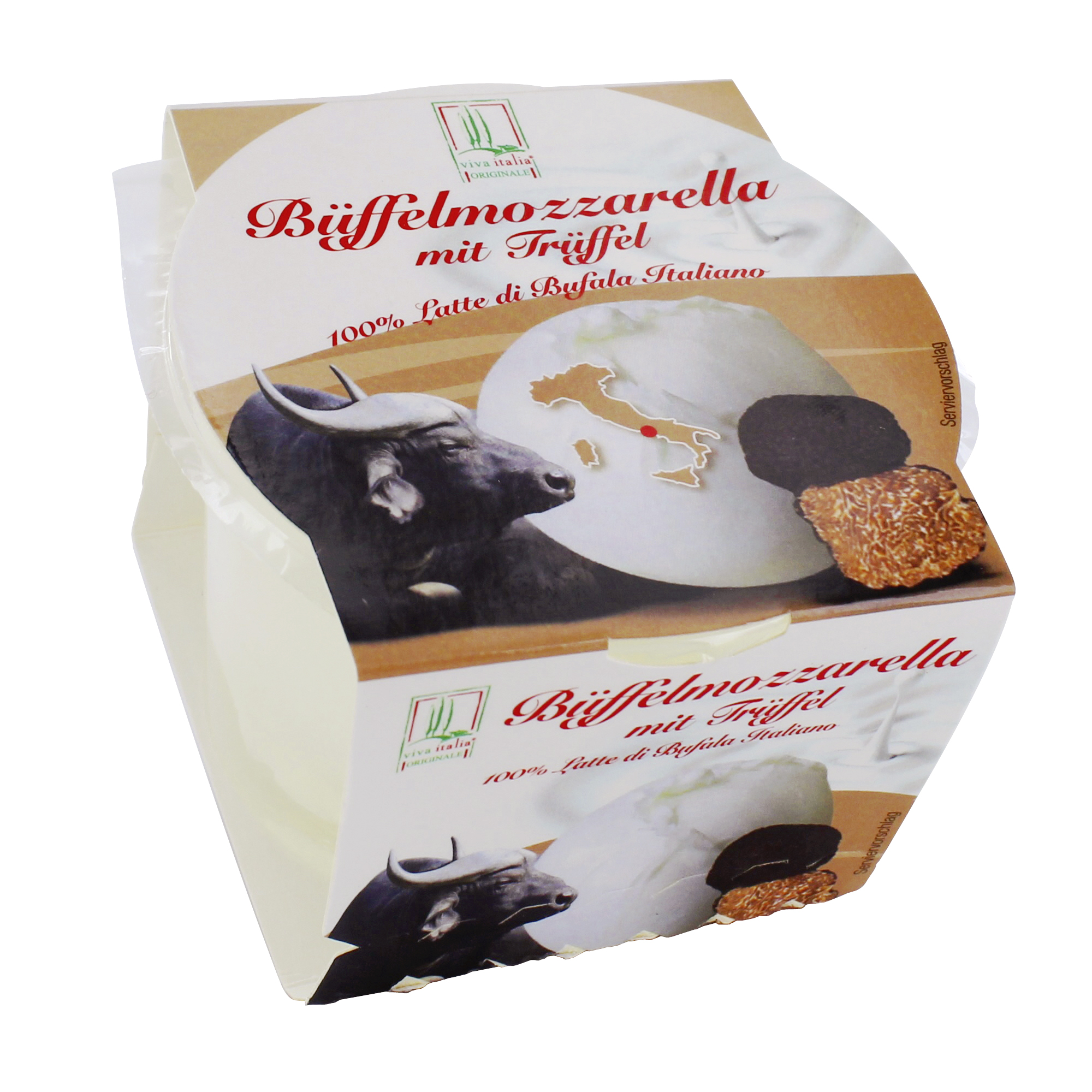 Viva Italia Büffelmozzarella mit Trüffel 125g