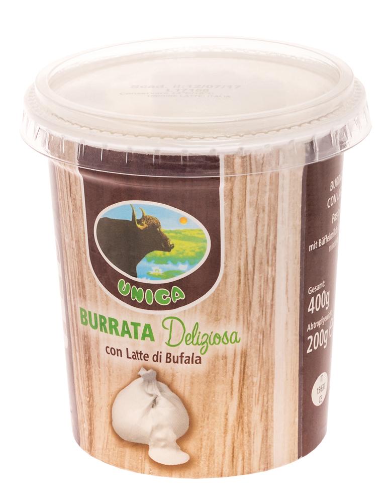 Unica – Burrata di Bufala Mozzarella 200g